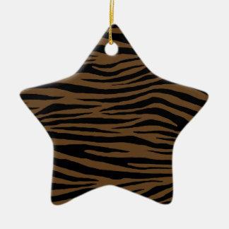 Otter Brown Tiger Ceramic Ornament