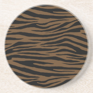 Otter Brown Tiger Coasters
