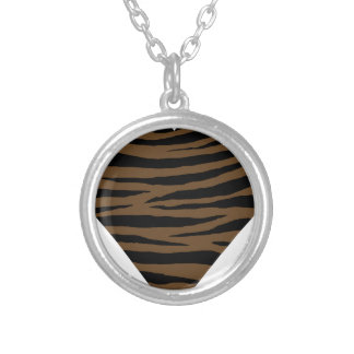 Otter Brown Tiger GH Silver Plated Necklace