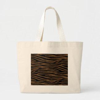 Otter Brown Tiger Large Tote Bag