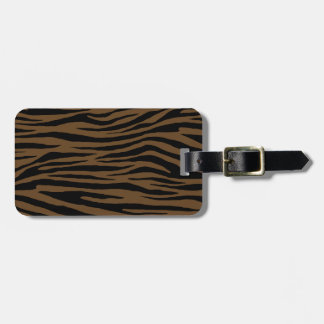 Otter Brown Tiger Luggage Tag