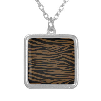 Otter Brown Tiger Silver Plated Necklace