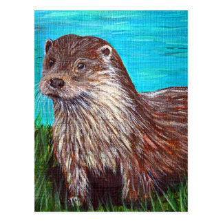 Otter by a River Postcard