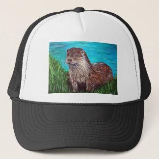 Otter by a River Trucker Hat