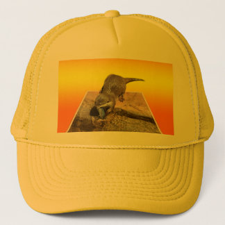 Otter By His Pond Eating Fish, Trucker Hat