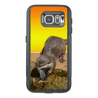 Otter Eating Otterly Delicious Fish, OtterBox Samsung Galaxy S6 Case