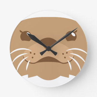 otter face round clock