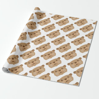otter face wrapping paper