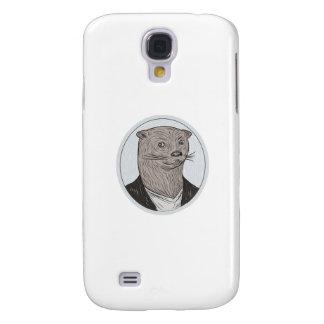Otter Head Blazer Shirt Oval Drawing Galaxy S4 Cases