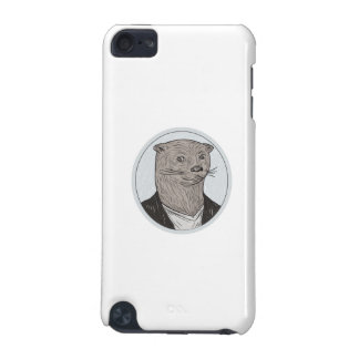Otter Head Blazer Shirt Oval Drawing iPod Touch (5th Generation) Cases