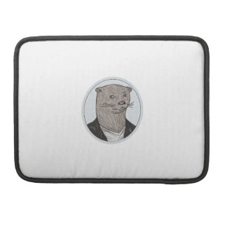 Otter Head Blazer Shirt Oval Drawing Sleeve For MacBook Pro
