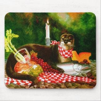 Otter Invades Picnic Mousepad