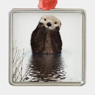 Otter Metal Ornament