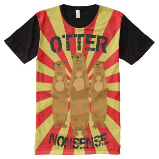 Otter Nonsense All-Over Print T-Shirt