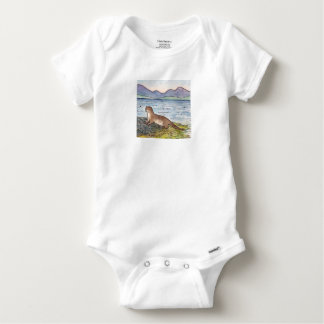 otter of the loch baby onesie