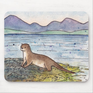 otter of the loch mouse pad