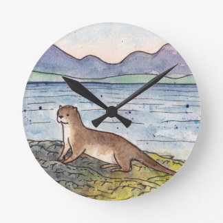 otter of the loch round clock