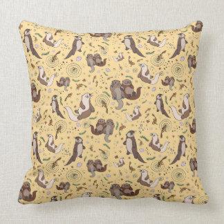 Otter Pattern Cushion