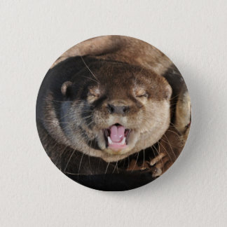 Otter photo 6 cm round badge