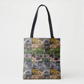 Otter Photo Collage, Full Print Tote Shopping Bag
