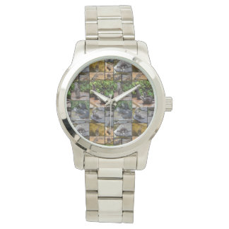 Otter Photo Collage, Large Unisex Silver Watch