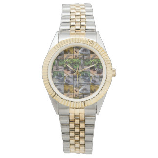 Otter Photo Collage,  Unisex Two Toned Watch
