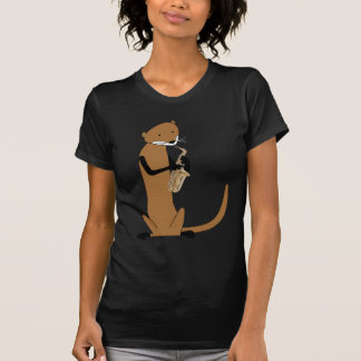 Otter Playing the Saxophone T-shirts