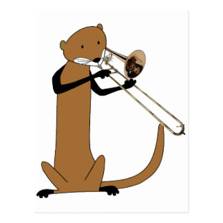 Otter Playing the Trombone Postcard