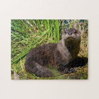 Otter Pup Yellowstone. Jigsaw Puzzle