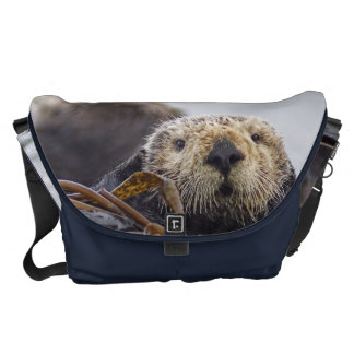 Otter Surprise California Sea Otter Courier Bag