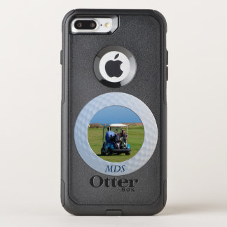 Otterbox Golf Ball Framed Photo Monogram OtterBox Commuter iPhone 8 Plus/7 Plus Case