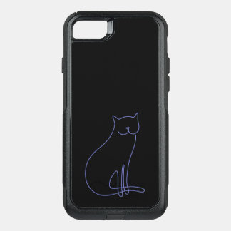 Otterbox phone case purple cat black