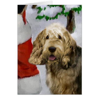 Otterhound Christmas Gifts Card