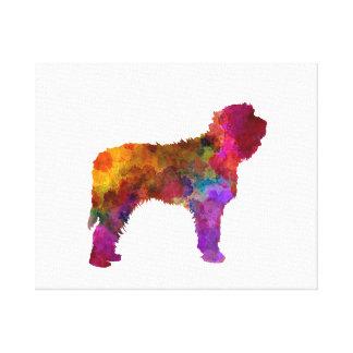 Otterhound in watercolor canvas print