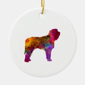 Otterhound in watercolor ceramic ornament