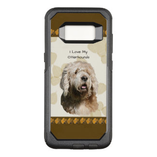 Otterhound on Tan Leaves & Brown Pawprints OtterBox Commuter Samsung Galaxy S8 Case