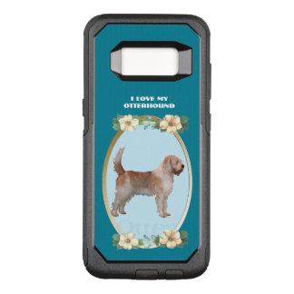 Otterhound on Teal Floral OtterBox Commuter Samsung Galaxy S8 Case