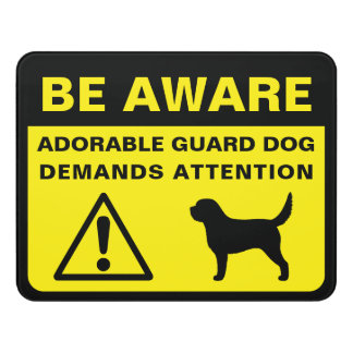 Otterhound Silhouette Funny Guard Dog Sign