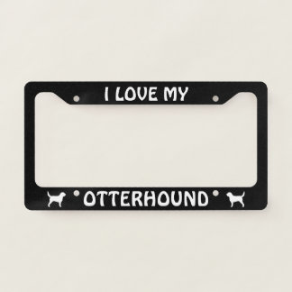 Otterhound Silhouettes I Love My Otterhound Custom Licence Plate Frame