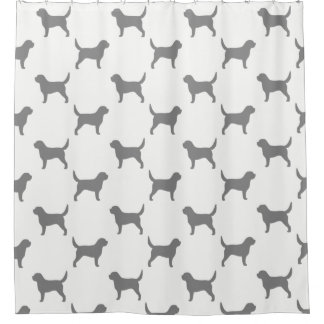 Otterhound Silhouettes Pattern Shower Curtain