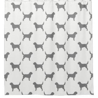 Otterhound Silhouettes Pattern Shower Curtain