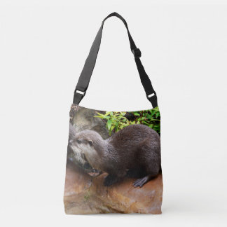 Otterly_Adorable_Full_Print Cross Body Bag, Medium Crossbody Bag
