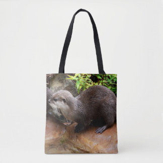 Otterly_Adorable_Full_Print Tote_Shopping Bag