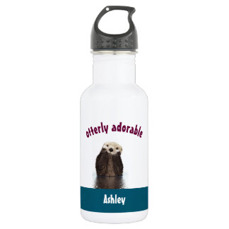 Otterly Adorable Pun with Cute Otter Photo 532 Ml Water Bottle