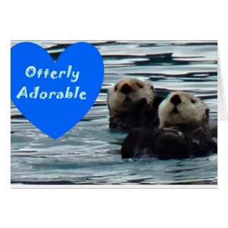 Otterly Adorable Sea otter Greeting Card