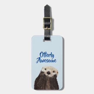 Otterly Awesome Cute Otter Photo Luggage Tag