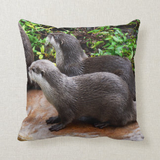 Otterly Cute, Otters, Lounge Cushion. Cushion