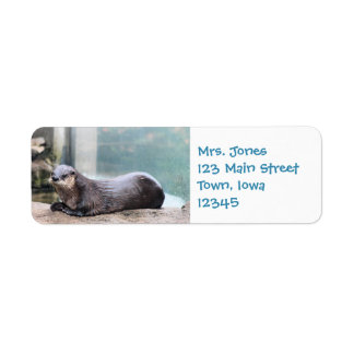 Otterly cute return address label