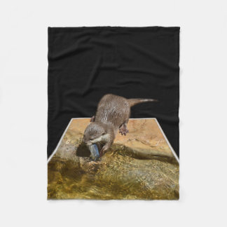 Otterly Delicious Otter, Small Fleece Blanket