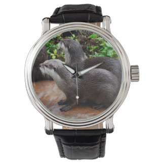 Otterly_Devoted_Mens_Leather_Vintage_Watch. Wristwatch